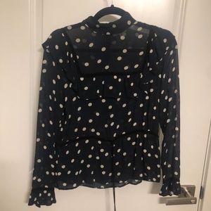 Ganni dot shirt